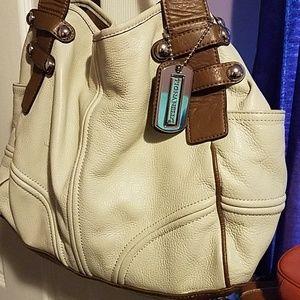 Cream and Brown Handbag